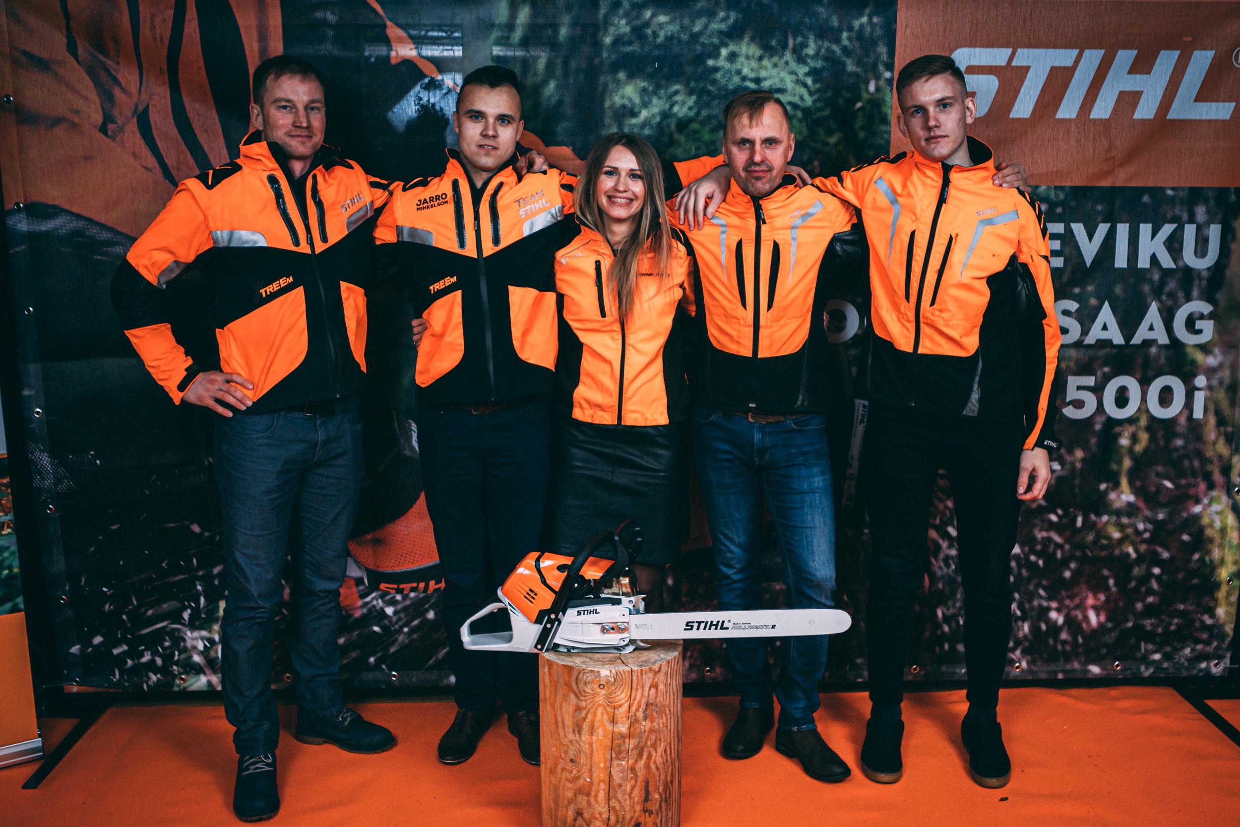Eesti raiesportlased said omale tuliuued STIHL MS 500i võistlussaed